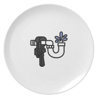 Plumber Logo Dinner Plate