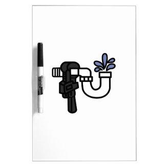Plumber Logo Dry-Erase Board