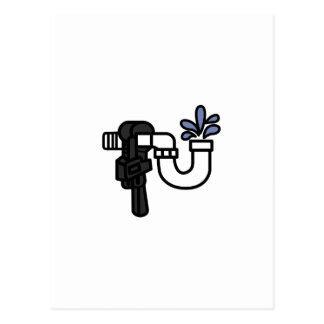 Plumber Logo Postcard