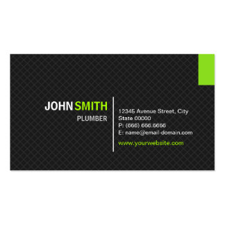 Plumber - Modern Twill Grid Double-Sided Standard Business Cards (Pack Of 100)