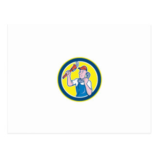 Plumber Monkey Wrench Telephone Circle Cartoon Post Cards