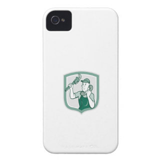 Plumber Monkey Wrench Telephone Shield Cartoon iPhone 4 Case-Mate Cases