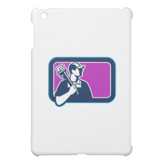 Plumber Pipe Wrench Side Rectangle Retro iPad Mini Cover