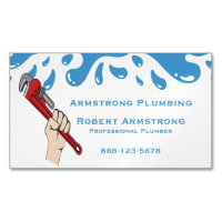 Plumbing business cards templates zazzle large business cards plumber pipe wrench water colourmoves