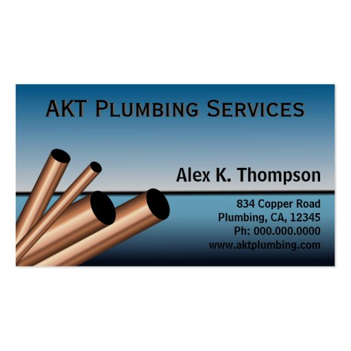 Plumber Plumbing Business Card Template