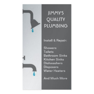 Plumber Plumbing Installation Service Repair Business Cards