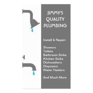 Plumber Plumbing Installation Service Repair Double-Sided Standard Business Cards (Pack Of 100)