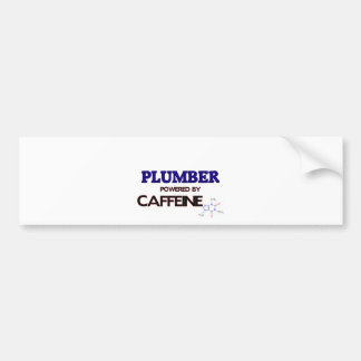 Plumber Powered by caffeine Car Bumper Sticker