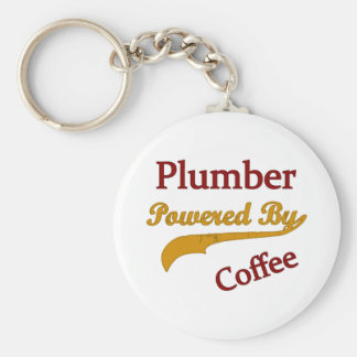 Plumber Powered By Coffee Keychain