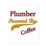 Plumber Powered By Coffee Postcard