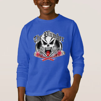 Plumber Skull and Smoking Wrenches T-Shirt