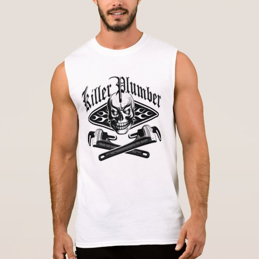Plumber Skull and Wrenches 31 Sleeveless Shirts Tank Tops, Tanktops Shirts