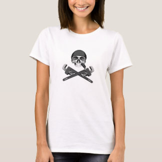 Plumber Skull and Wrenches T-Shirt