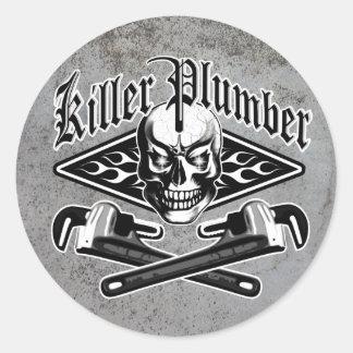 Plumber Skull: Killer Plumber 3.1 Classic Round Sticker