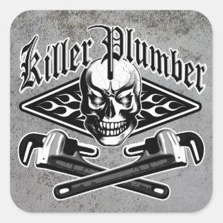 Plumber Skull: Killer Plumber 3.1 Square Sticker