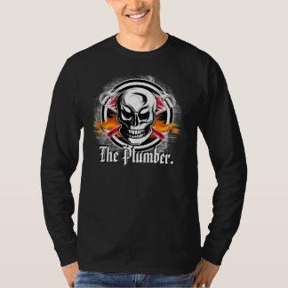 """Plumber Skull Long Sleeved Shirt: """"The Plumber."""" T-Shirt"""