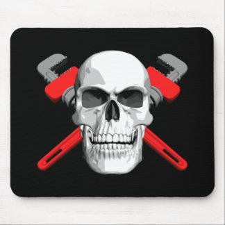 Plumber Skull Mouse Pads