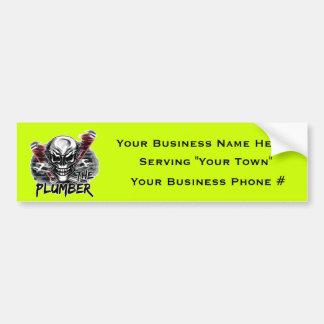 Plumber Skull: The Plumber Car Bumper Sticker