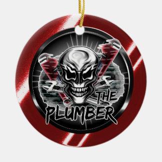 Plumber Skull: The Plumber Ceramic Ornament