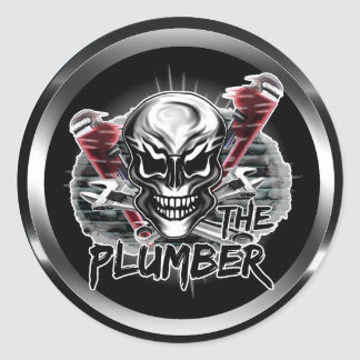 Plumber Skull: The Plumber Classic Round Sticker