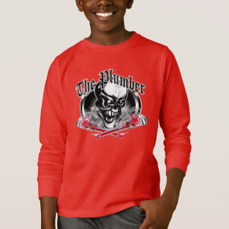 Plumber Skull with Smoking Wrenches 5 T-Shirt