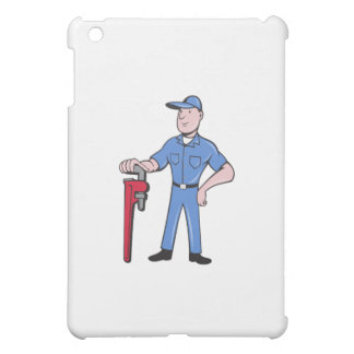 Plumber Standing Pipe Wrench Cartoon Case For The iPad Mini