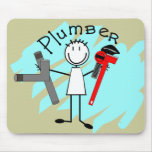 Plumber  stick person design mousepads