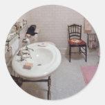 Plumber - The Bathroom Round Sticker