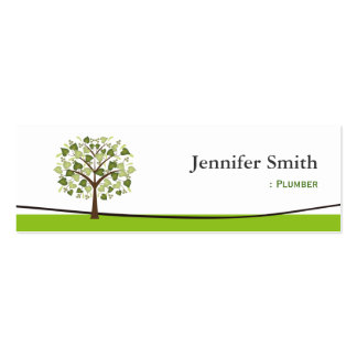 Plumber - Wishing Tree of Hearts Business Card
