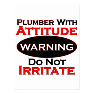 Plumber With Attitude Postcard