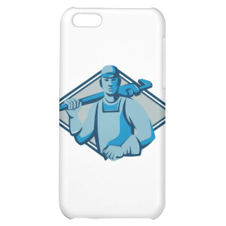 plumber with monkey wrench retro cover for iPhone 5C