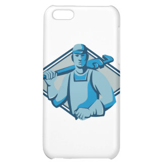 plumber worker monkey wrench retro iPhone 5C case