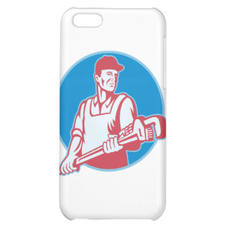 Plumber Worker Monkey Wrench Retro iPhone 5C Covers