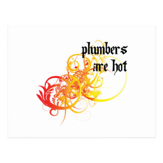 Plumbers Are Hot Postcard