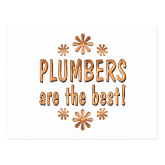 Plumbers are the Best Postcard