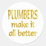 Plumbers Classic Round Sticker