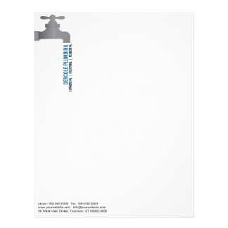 Plumbers Faucet Letterhead