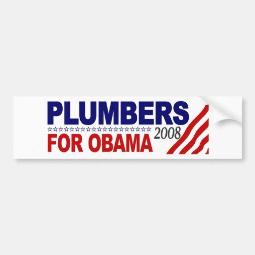 Plumbers for Obama 2008 Car Bumper Sticker