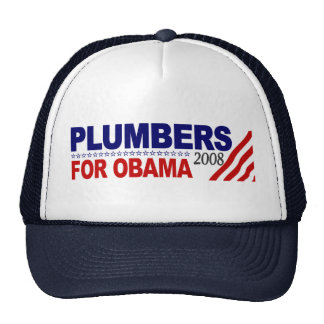Plumbers for Obama 2008 Trucker Hat
