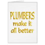 Plumbers Greeting Card