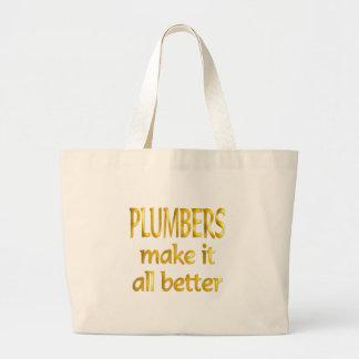 Plumbers Large Tote Bag