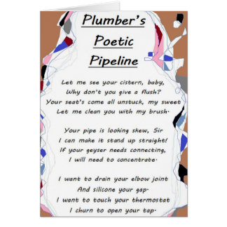 Plumber's Poetic Pipeline card