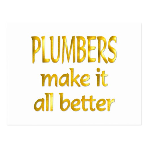 Plumbers Post Cards