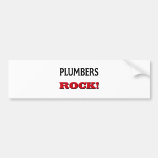 Plumbers Rock Car Bumper Sticker