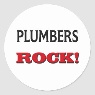 Plumbers Rock Round Stickers