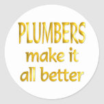 Plumbers Round Stickers