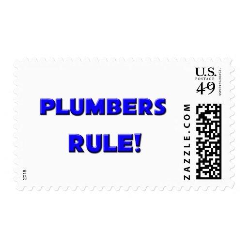 Plumbers Rule! Stamp