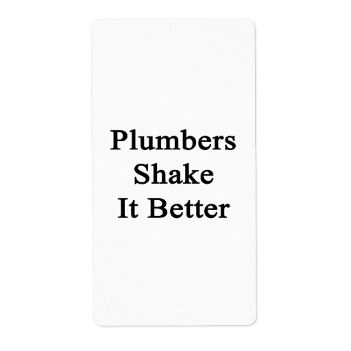Plumbers Shake It Better Personalized Shipping Labels