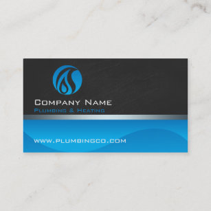 Plumbing business cards templates zazzle plumbing and heating business cards colourmoves
