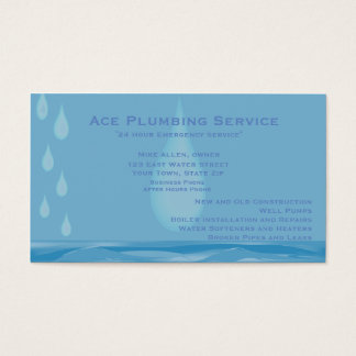 Plumbing and Heating Customizable Business Card